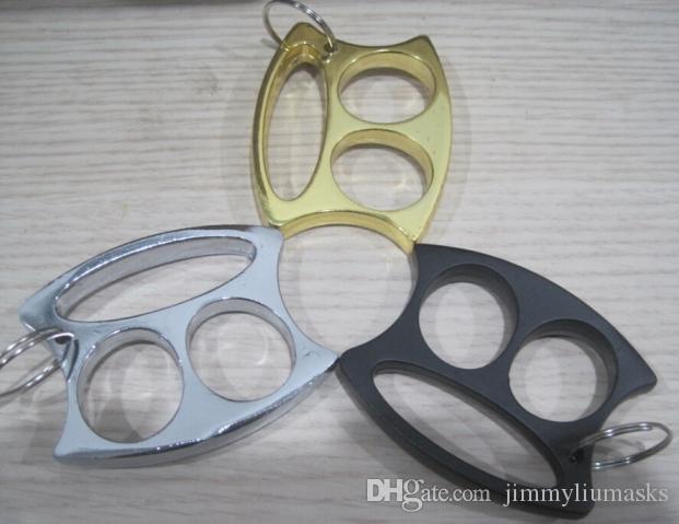 ساخنة جديدة الذهب الأسود والفضي مفتاح سلسلة لطيف حلقة صغيرة الوجه إصبع المفاصل
