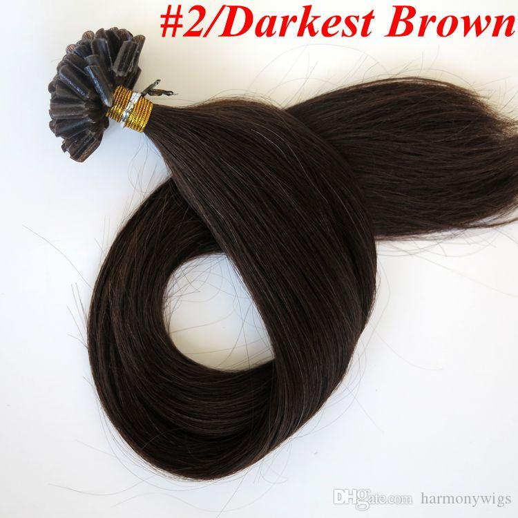 100г 100пряди pre скрепленное U кончик ногтя человеческих волос 18 20 22 24 дюймов прямо бразильский индийские волосы расширение
