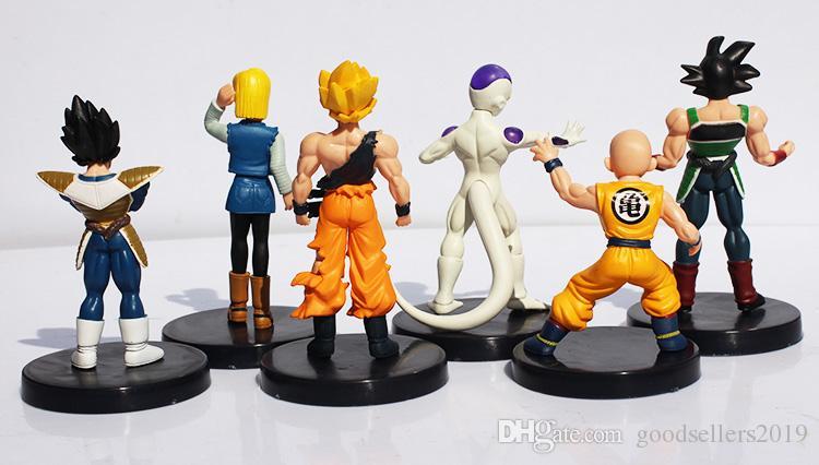 Dragon Ball Z Figuras 6 Pçs / set Dragon Ball Z Figuras DragonBall Son goku Gogeta Gotenks PVC Action Figure Collectible Modelo Toy