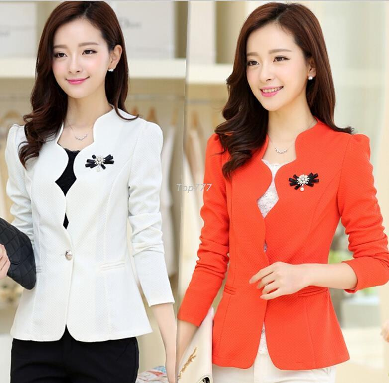 288d5afcbc631 Blazers Women New Casual Coats Female Long Sleeve Outerwear Jackets ...