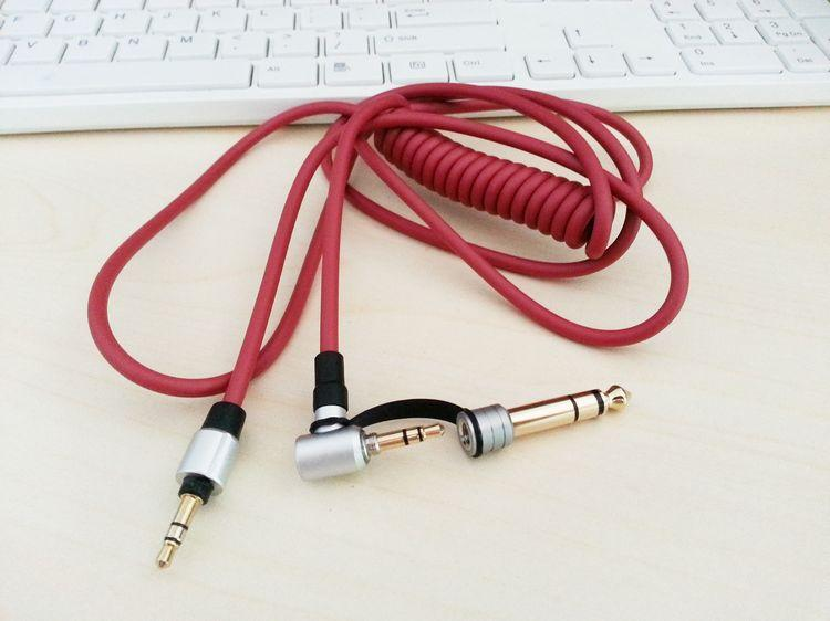For Detox Pro Stereo Headphone Replacement Extension Car AUX Audio Cable 6.5mm and 3.5mm Male to Male Spring Cable