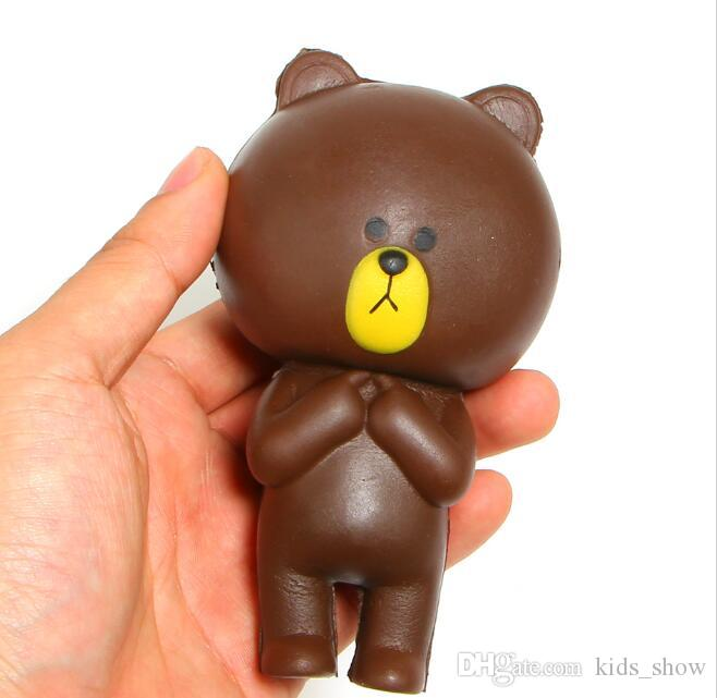 12CM Rilakkuma Bear Jumbo Kawaii Cute Squishy Cartoon Slow Rising bread Soft Cake bun Sweet Charm Scented Kids Toy Gift