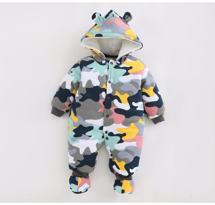 129a743f0 2017 NEW Baby Rompers Winter Thick Warm Baby Boy Clothing Long ...