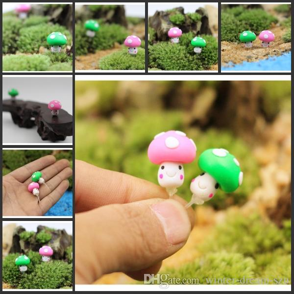 hot sale micro landscape mushroom figurines dish garden decorations christmas ornaments dish garden decorations 2 style