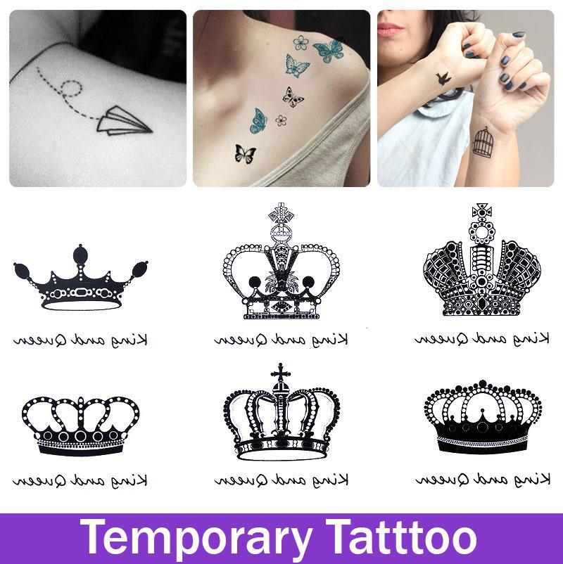 Temporary Crown Tattoo Design Tatoo For Girl Woman Waterproof