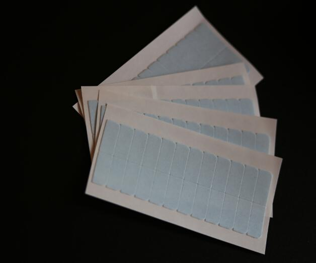 Lichtblauwe kleur Super hoge kwaliteit sterke dubbele tape voor huid haar inslag / PU haar inslag