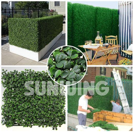 2018 sunwing artificial boxwood hedge plastic garden fence outdoor