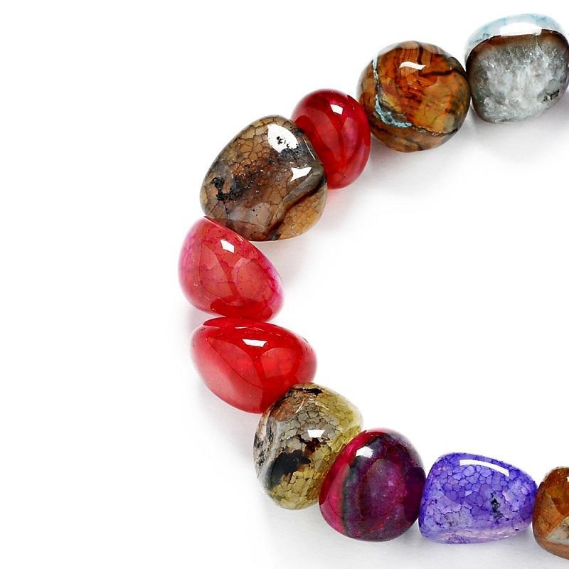 2017 nouvelle géométrie naturelle agate bracelets pour filles déclaration bijoux mode