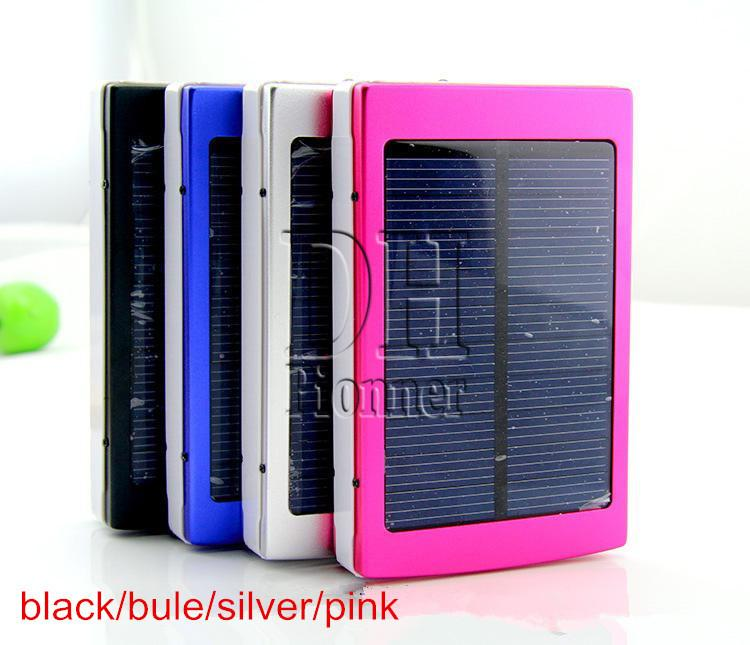 20000mAh Portable 2 USB Port Solar Power Bank Charger External Backup Battery With Box For iPhone iPad Samsung Mobile Phone Smartphone DHL