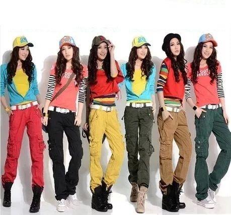 61a248f2515e1 Compre Ropa De Mujer De Moda Para Mujer Pantalones De Carga Harem  Pantalones De Hip Hop Traje De Danza Niñas Sueltas Ocasionales Pantalones  Holgados 9078 A ...