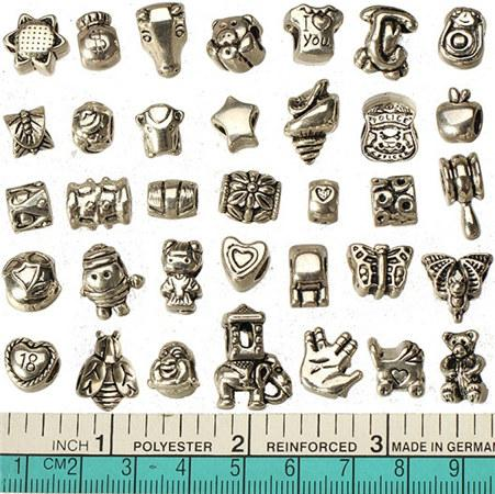 Jewelry Components Charms Beads Pandora Bracelets European DIY 5mm Large Hole Tool Hammer Antic Silver Metal 16*7mm For Crafts Making