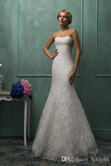 Sexy Lace Mermaid Backless Wedding Dresses 2015 Open Back Wedding Gowns Plus Size With jackets Amelia Sposa