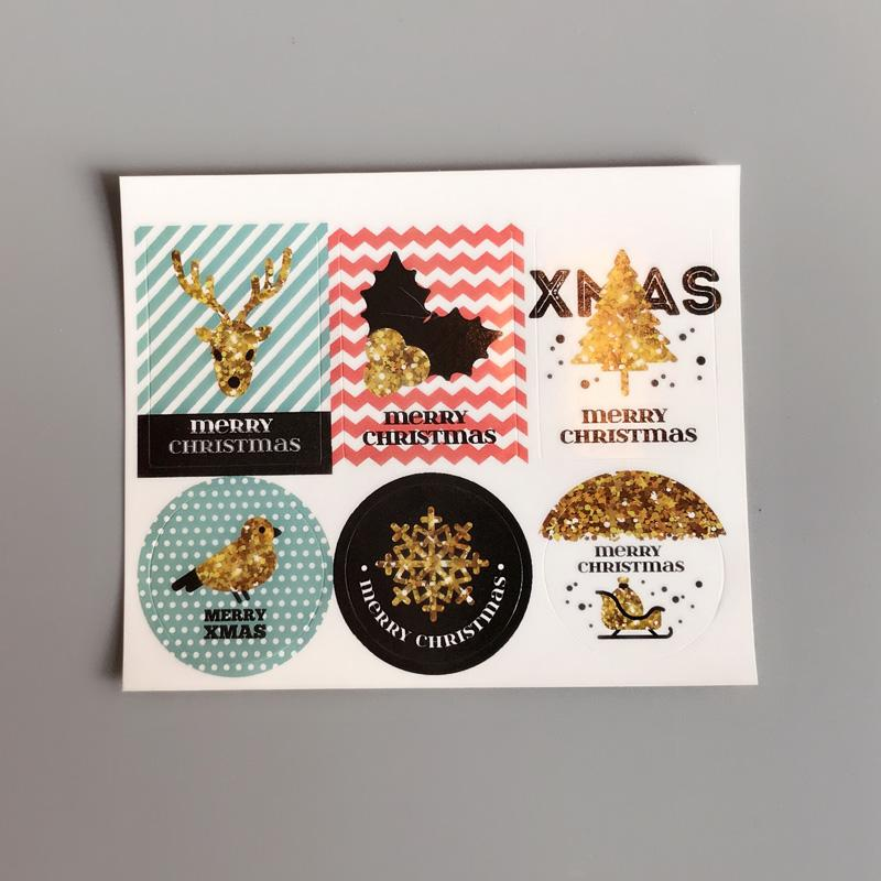 3x4cm1.4x1.6inchchristmas stickers scrapbook DIY baking products sealing sticker for Cards Gift Box Bake Package sticker customize
