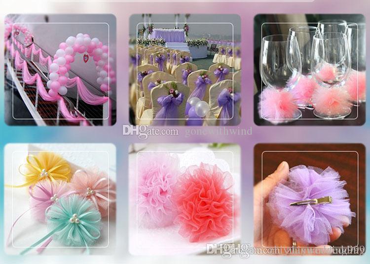 High Quanlity Tulle Wedding Decorations For Table Skirt Hair Flower