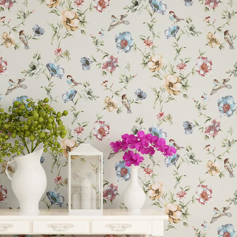 Wholesale Luxury Chinese Classic Flowers Birds Wallpaper Romantic ...