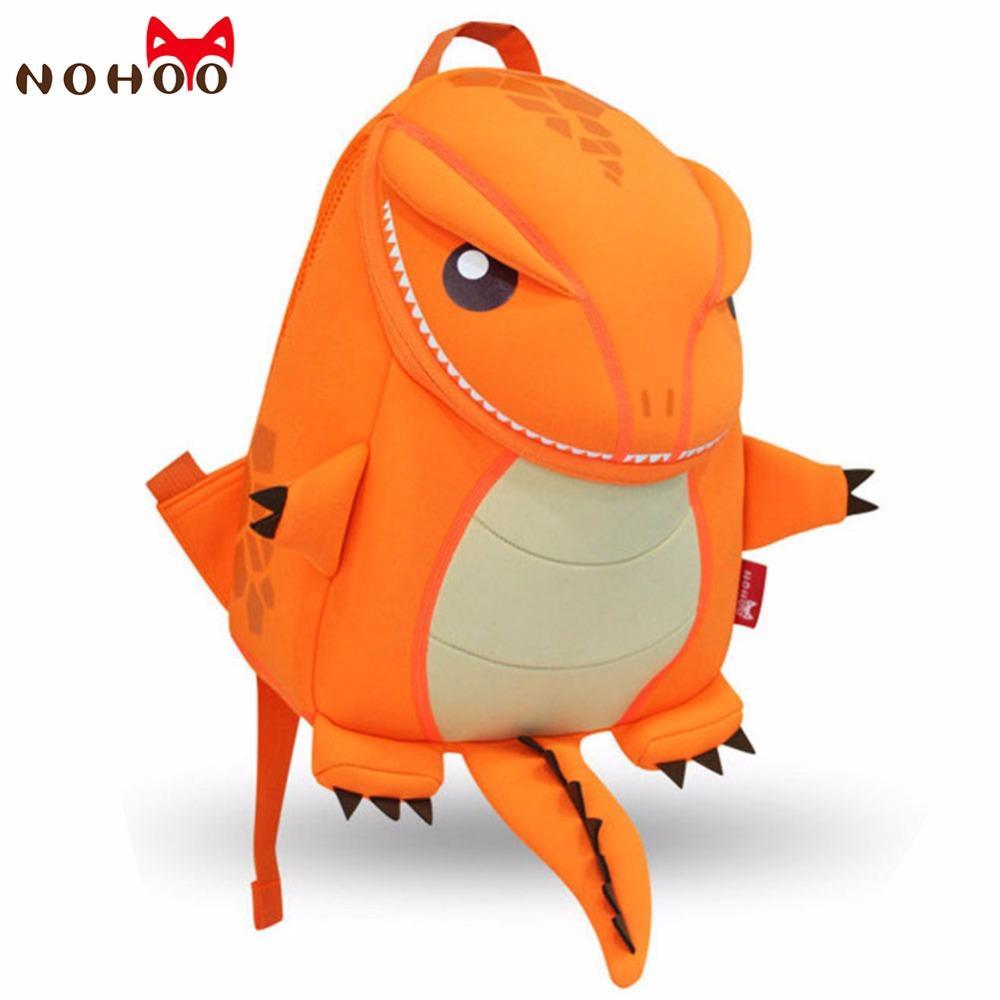 Nohoo Orange Green Dragon Kids Baby Cartoon Waterproof School Bags ...