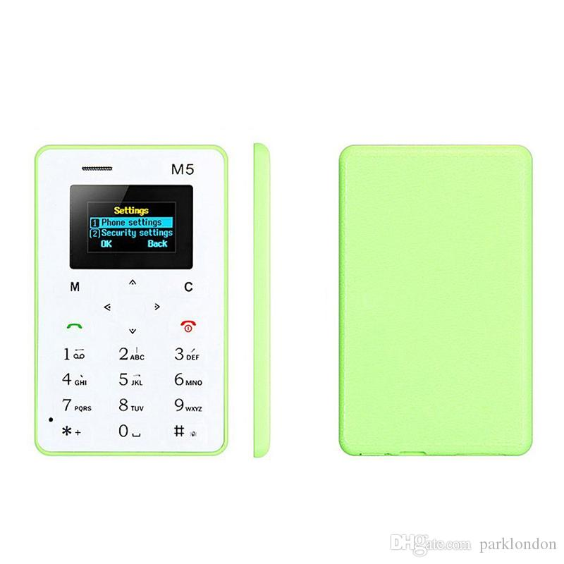 Chirstmas gift 4.8MM Ultra-thin AEKU M5 Special Card Cell Phone ChipsetMTK Bar GSM Color Screen Mutilanguage