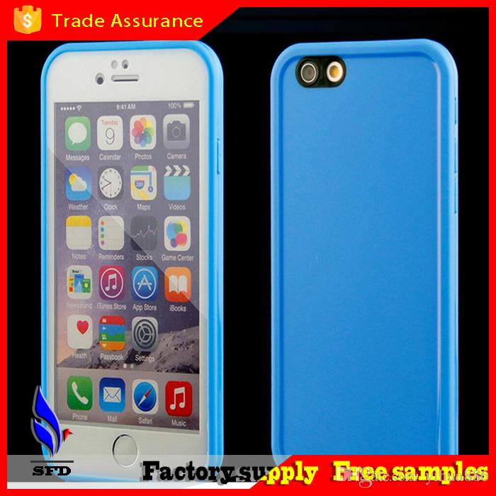 factory price 44d52 a178a TPU with clear front screen protector Water Resistant Soft waterproof case  Gel Case For iPhone 6 6s iphone 6 plus s