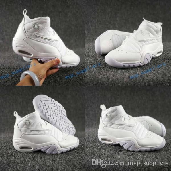 half off 845b8 b3f60 Compre Marca Famosa Air Shake Ndestrukt Zapatillas De Baloncesto Para Hombre  Diseñador De Calidad Superior Rodman Retro All White Casual Sports Sneakers  7 ...