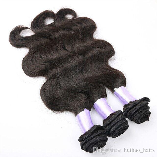 WHOLESALE Factory Direct Supply Raw India Double Weft Human Body Wave Hair Bundles dyeable in Natural Black Color