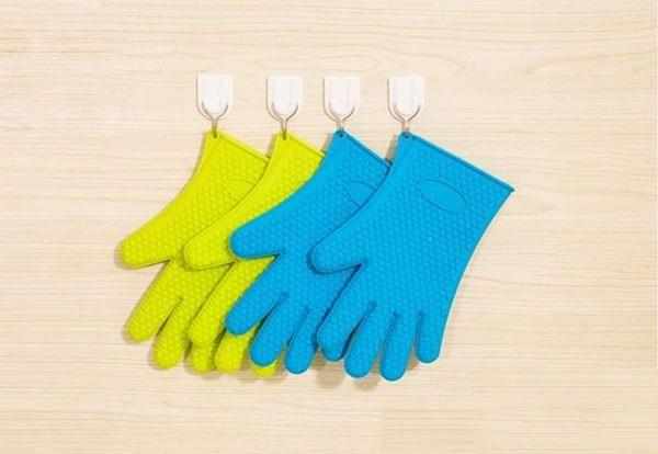 Free DHL/Fedex, Heat Resistant Silicone Glove Cooking Baking BBQ Oven Pot Holder Mitt Kitchen Tools
