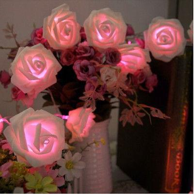 Top Selling 20 Led Festival Rose Flower String Light Fairy