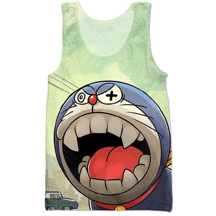 418b8250cf0ca2 ... Harajuku Style Japan Anime Cartoon Doraemon T Shirt 3d Tank Tops Women  men Summer Sport Tank  summer women thong slippers ...