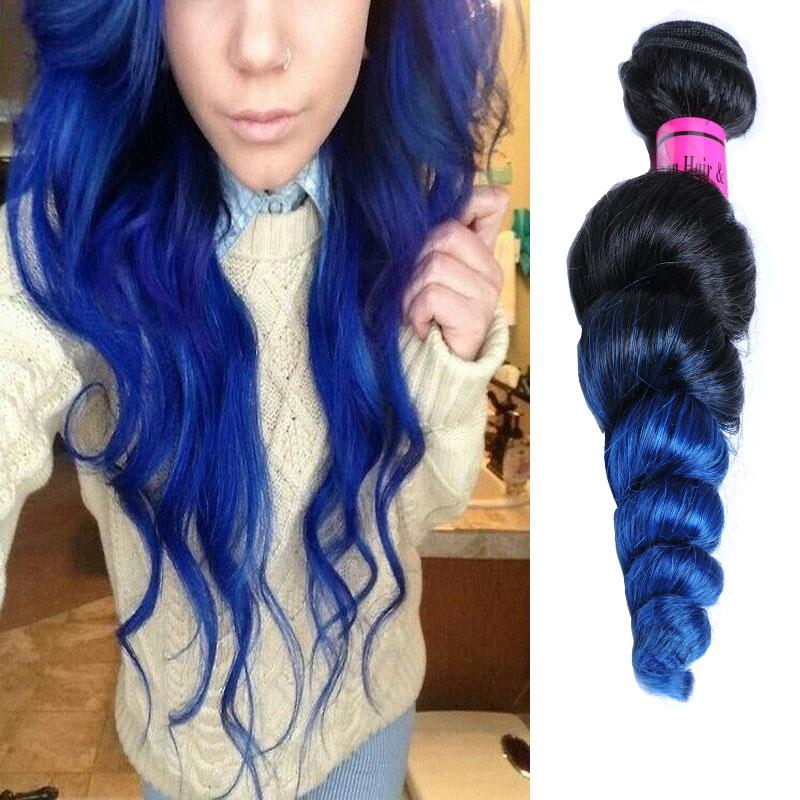 Blue extensions in black hair image collections hair extension cheap black blue ombre brazilian virgin hair loose wave ombre cheap black blue ombre brazilian virgin pmusecretfo Image collections