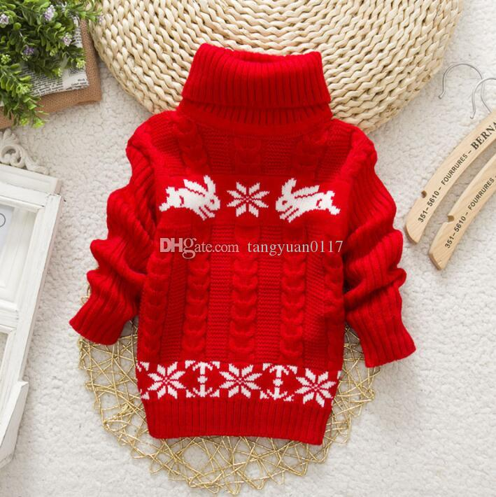0f9759b92d8010 Girls Sweater Rabbit Easter Autumn 2017 New Baby Girl Sweater Baby Long  Sleeve Turtleneck Winter Sweaters For Girls Latest Sweater Design For Kids  Free ...
