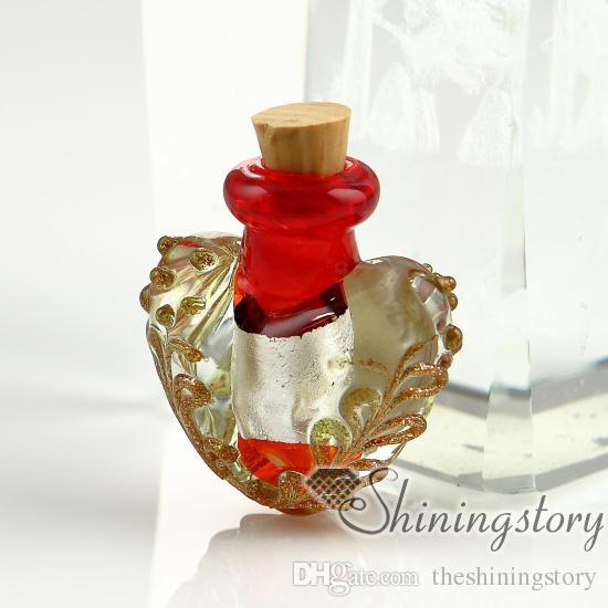 pequeños viales de vidrio para collares joyas que contienen cenizas joyas conmemorativas cenizas joyas para cenizas