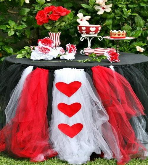 Tutu with heart table skirting black and white diy wedding tutu with heart table skirting black and white diy wedding decorations for table custom made tulle tutu table skirt for party 2015 wedding decor singapore junglespirit Images
