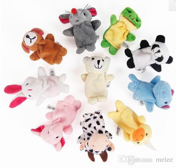 / dhl fedex sammet plysch finger marionetter djur marionetter leksaker finger marionett barn baby söt lek berättelse diverse djur