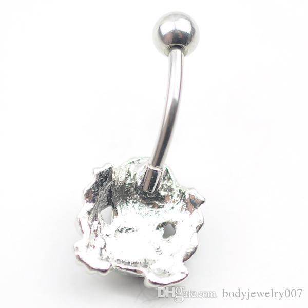 D0493 1 цвет лягушачий пупок кольцо, пирсинг украшения для тела Кольцо пупка, крепление BELLY BAR 10 шт. / Лот JFC-5464