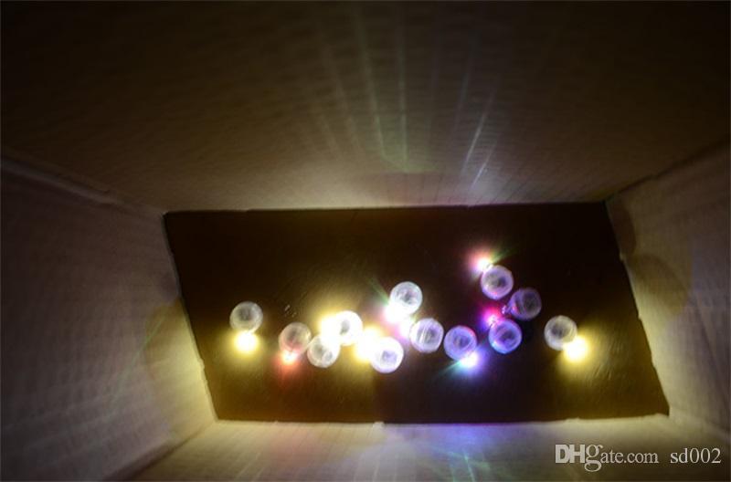 Creativo Palloncino Leggero Rotondo Colorato Led Flash Ball Lampada Decorazioni feste di nozze di Natale Articoli 0 4dl C R