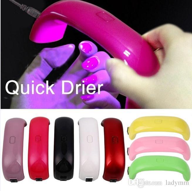 DHL Free Mini Rainbow Nail Art Lamp 9W LED Light Bridge Shaped Mini Curing Nail Dryer Nail Art Lamp Care Machine for UV Gel USB Cable