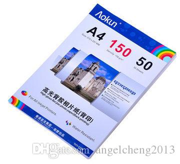 High glossy adhesive back print photo paper A4 150g 50 Sheets inkjet waterproof paper photo paper for Inkjet Prints