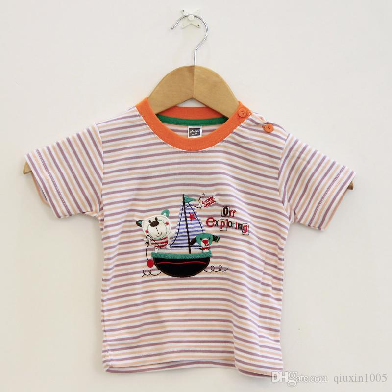 Kids T Shirt Summer Short Sleeve Tee Shirt Children Fashion Kids Baby Outfits Clothes Short Sleeve T-shirt