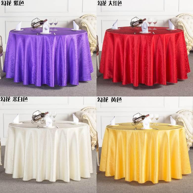 New Table Cloth Round Overlays Tablecloths Spandex Tablecloth Wedding High  Quality Round Waterproof Colors Red/Yellow/Ivory/Wine/Purple