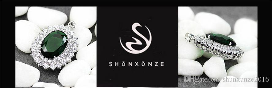 Réduction dans le temps Noble Generous MN653 Recommend Peridot Cubic Zirconia Meilleures ventes Pendentifs Favoris en Cuivre Plaqué Rhodium Romantique
