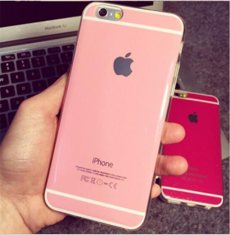 new concept 00749 113da iphone 6S plus Cases Candy Colors Soft TPU Case Shiny Dustproof Back Cover  for iphone 6 6S plus 5 5S 4S