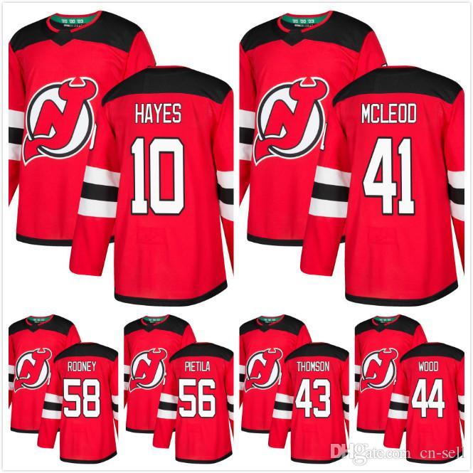 Mens 2018 New Jersey Devils Michael McLeod 43 Thomson 44 Miles Wood ... e0863a655