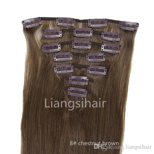 Brazilian Virgin Remy Human Hair Extensions 15 18 20 22 70g 8
