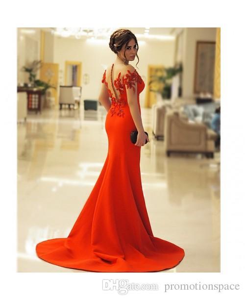 2016 Red Embellished Illusion Schatz Abendkleid Sexy Meerjungfrau Schulterfrei Pailletten Lange Backless Ballkleider Party Abendkleider