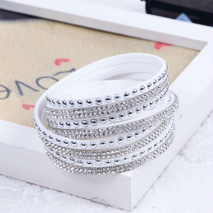 Nuovo braccialetto unisex in pelle multistrato con braccialetti di fascino regalo di Natale le donne Pulsera 2015