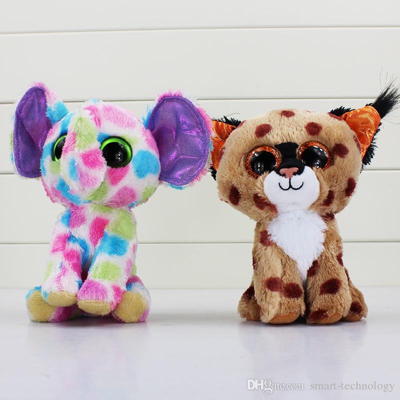 TY beanie boos big eyes plush toy doll child birthday Christmas gift Dog elephant rabbit Penguin