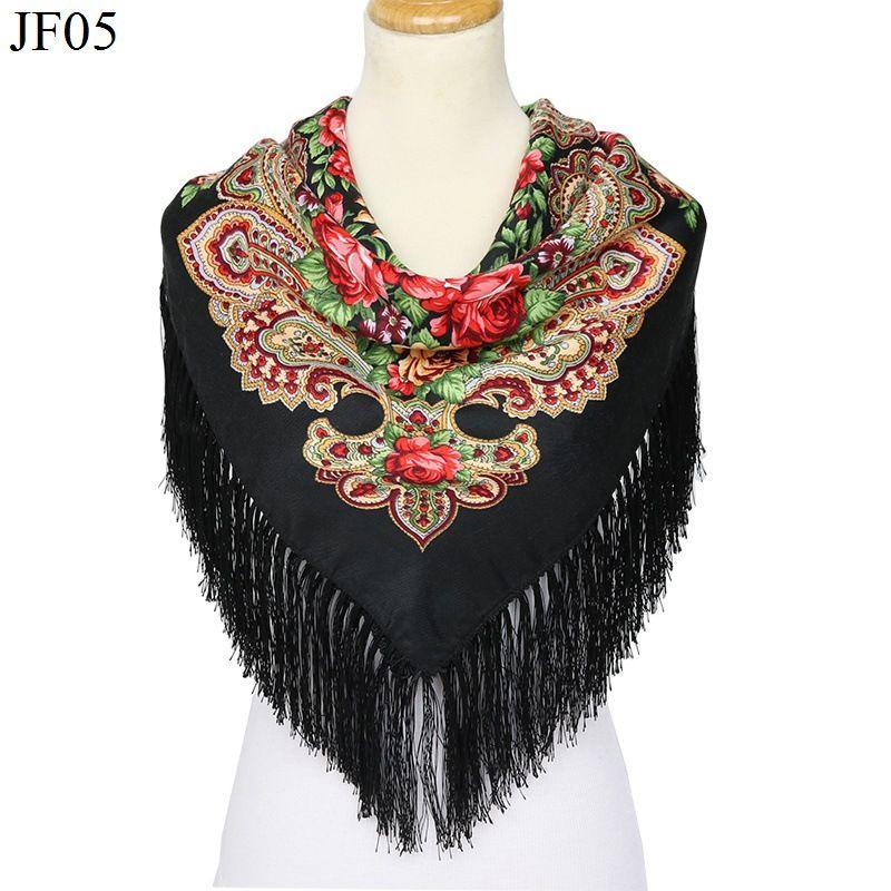 Big Square Scarf Cotton Long Tassel Print Scarf Women Autumn Winter Shawl Ladies Foulard Femme Wraps