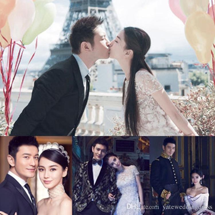 Romantische bruids haaraccessoires Sexy steentjes en kristallen hoofdepieces 2015 topkwaliteit bruids hoofdband bruiloft tiara's