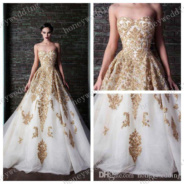 Discount vestido de noiva 2015 glamorous gold lace applique beads discount vestido de noiva 2015 glamorous gold lace applique beads white organza a line floor length sleeveless wedding dresses bridal gowns wedding gowns junglespirit Choice Image