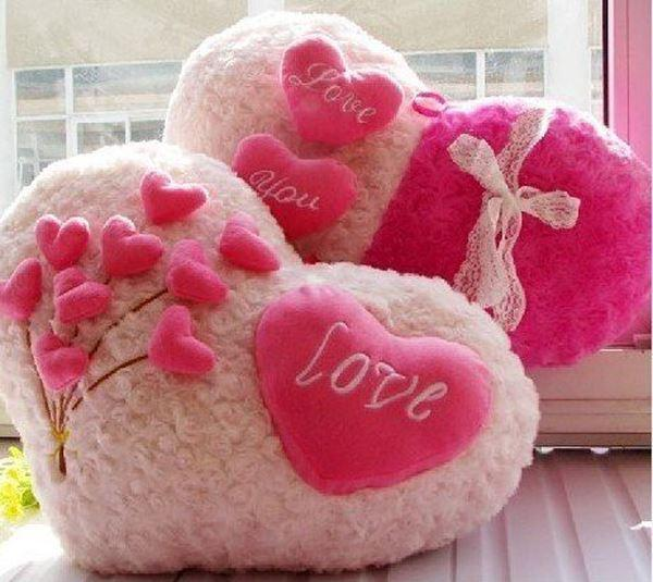 special valentine's day gift of roses heart shaped pillow cute, Ideas