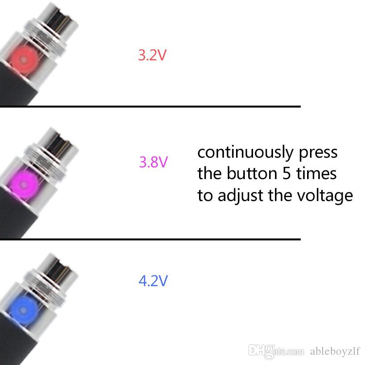 EGO-T Variable Voltage Battery Button Adjust Voltage for CE4 CE5 CE6 MT3 Protank Kanger Aspire Atomizer Electronic Cigarettes